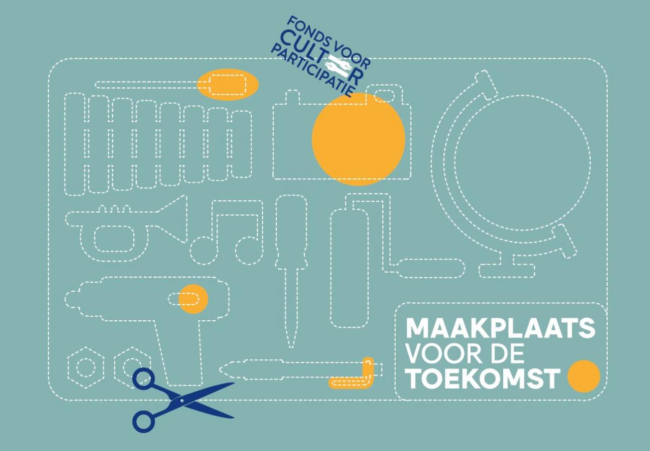 Logo van de conferentie met kunstobjecten