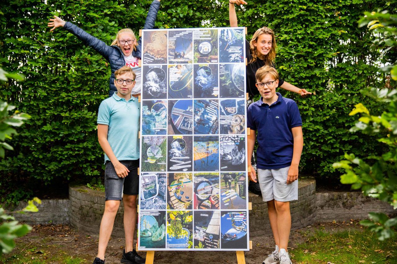 Leerlingen blij met het eindresultaat van hun werk