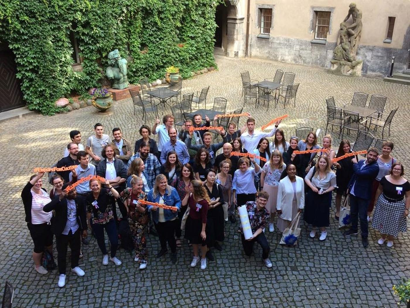 Groepsfoto van deelnemers The Future is Heritage