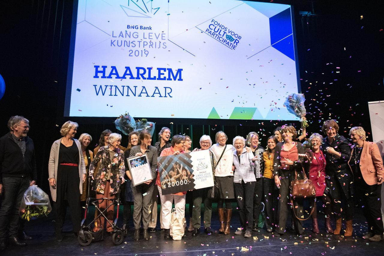 Haarlem won in 2019 de BNG Bank Lang Leve Kunstprijs