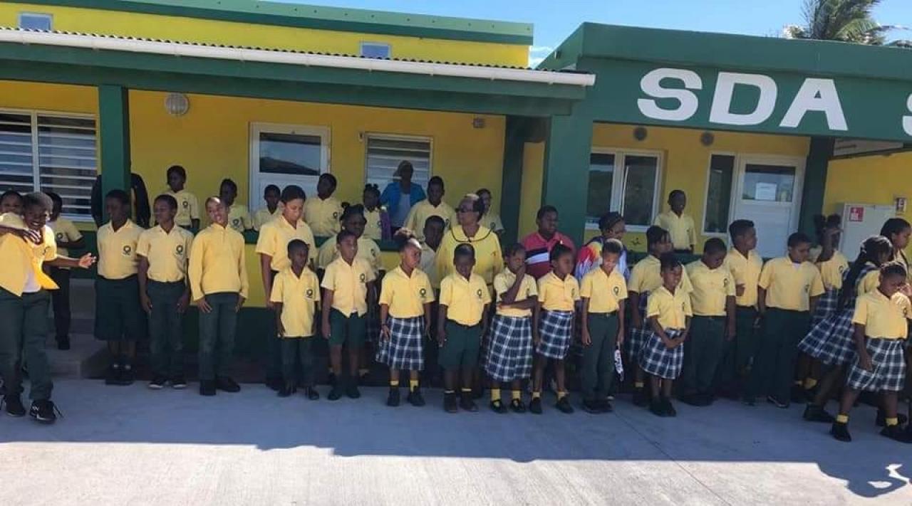 Schoolkinderen op Sint Eustatius