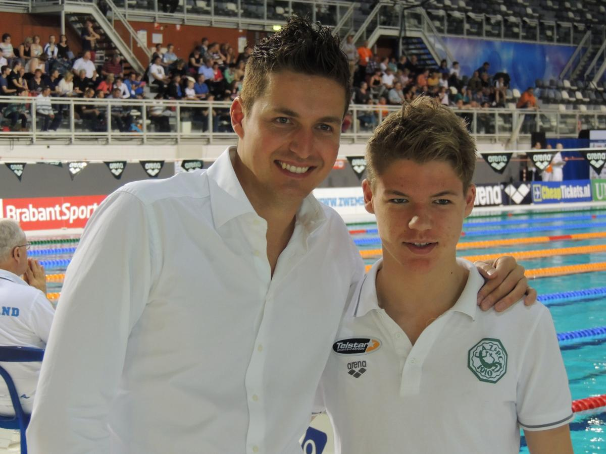 Zoon Wietse met Pieter van den Hoogenband
