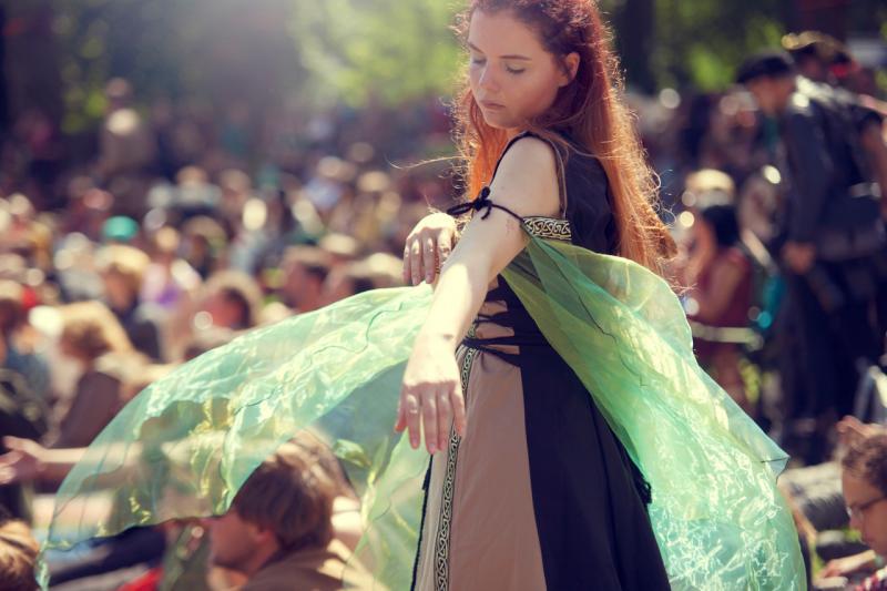 Een deelneemster aan Castlefest. Foto: Anouk Pross via Castlefest