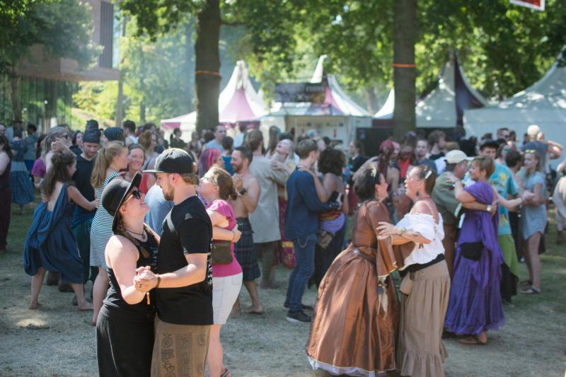 Bezoekers dansen op fantasy-festival Castlefest. Foto: Dewi van Zeggelaar via Castlefest