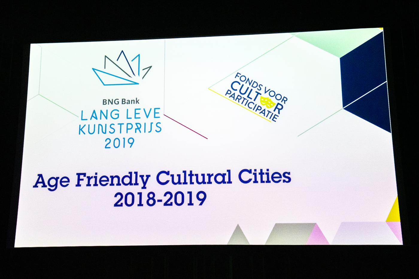Slotmanifestatie Age Friendly Cultural Cities 2018=2019. Wie wordt de winnaar?