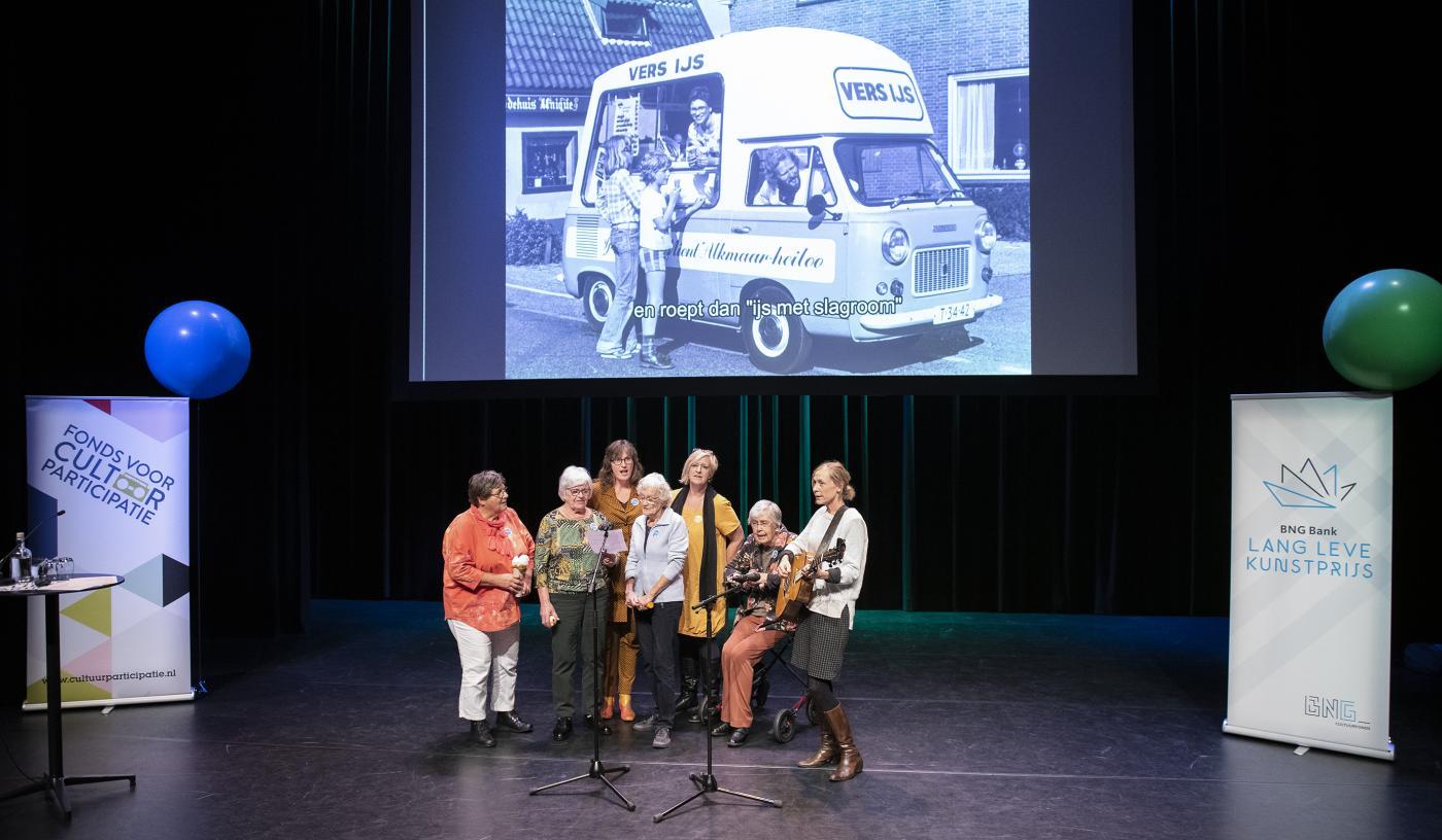 Het project Garden Songs van Stichting Zaaigoed uit Haarlem op het podium