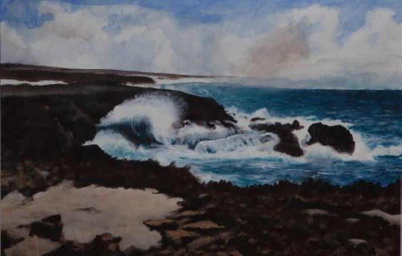 'Noordkant' - Rond 1999/2000 schilderde Paulo Martina de noordkust van zijn geboorte-eiland Curaçao