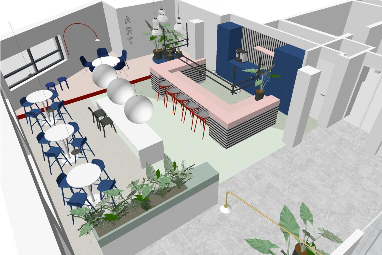 Impressie nieuw kantoor Daalseplein Utrecht