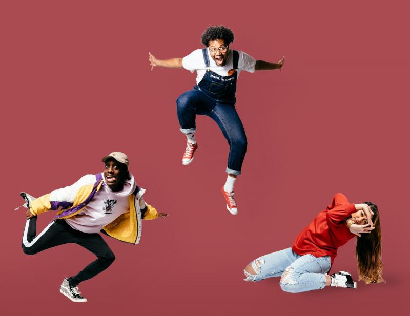 Urban dansers uit de campagne #weblijvenbezig